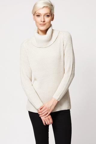 Beige Relaxed Fit Knitted Jumper-Beige-XXL