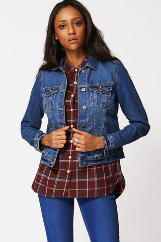 Blue Denim Jacket -Blue -XL