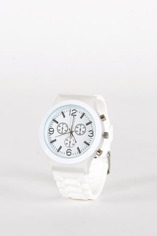Blue or White Faced Watch-White