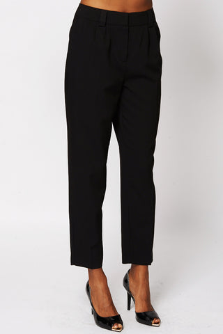 Black 3/4 Leg Trousers-Black-UK 6 - EU 34