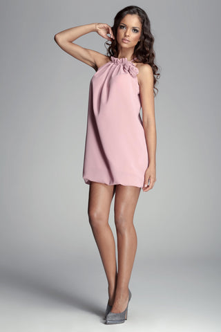 Pale Pink Haltered Tunic Dress