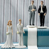 Fashionable Bride in Designer Gown Figurine Cake Topper