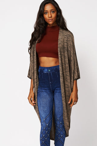 Batwing Throwover Cardigan-Grey-S/M - UK (8 -10)