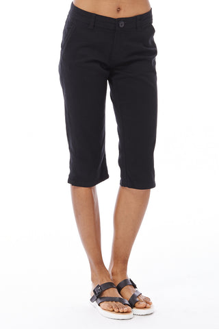 Cropped Trousers Available In Plus Sizes-Black-14
