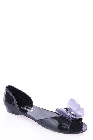 Jelly Butterfly Sandals-Black-UK 8 - EU 41