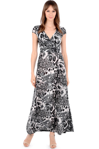 Silk Look Printed Maxi Dress