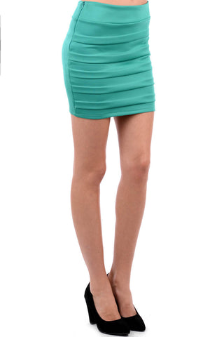 Layered Bodycon Mini Skirt