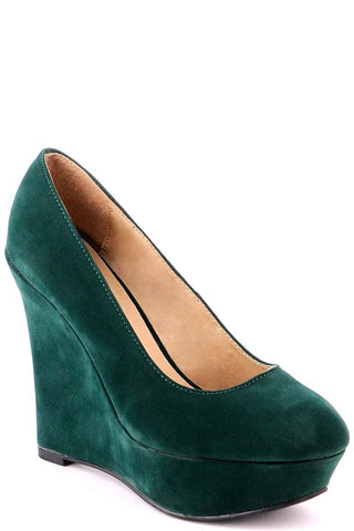 Suede Look Wedge Shoe