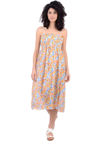 Flower Chiffon Dress With Elasticated Bust