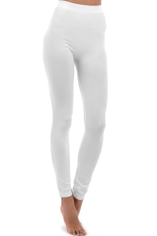 Long White Leggings with Stretch