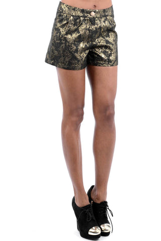 Floral Embossed Shorts