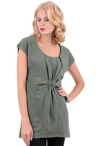 Capped Sleeve Bow Star Dress
