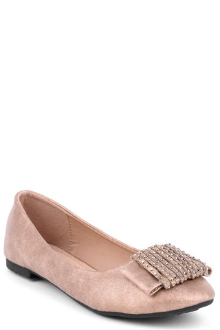 Ballet Pumps With Embellished Ribbon