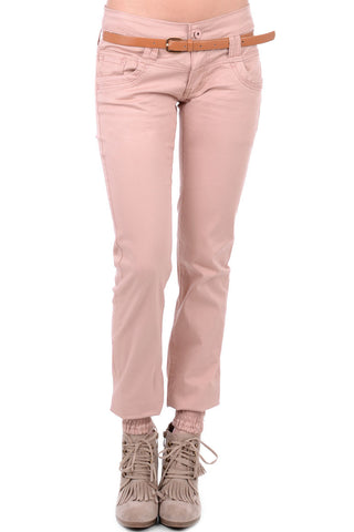 Elasticated Hem Trousers With Belt