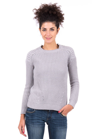 Chunky Knitted Jumper AVAILABLE IN PLUS SIZES-Grey-UK 12 - EU 40