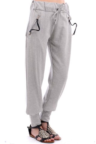 Zipped Tracksuit Bottoms