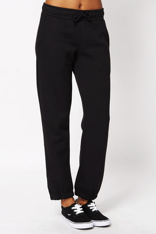 Black Soft Brushed Sweatpants -Black-UK 10 - EU 38