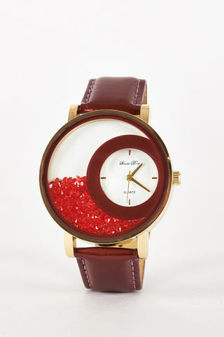 Loose Bead Design Watch-Wine