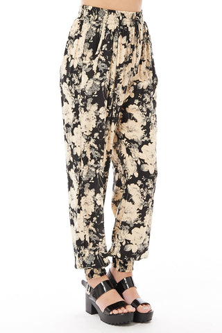 Black Harem Trousers-Black-One Size - UK (8-14)