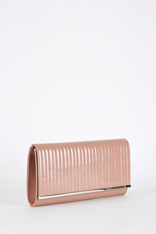 Patent Clutch Bag Available in Four Colours-Red