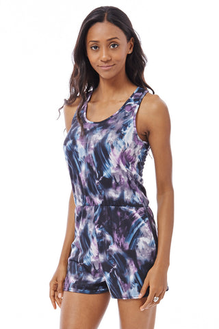 Stretchy Summer Playsuit Ex-Branded-Multi-UK 10 - EU 38