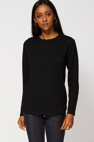 Black Abstract Pattern Sweatshirt-Black-M