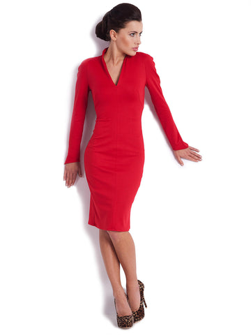 6250b1f3184 Long Sleeve Red Collared Dress – Blue Tinsel