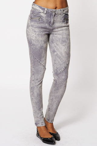 Acid Washed Grey Skinny Jeans Ex-Branded-Grey-14