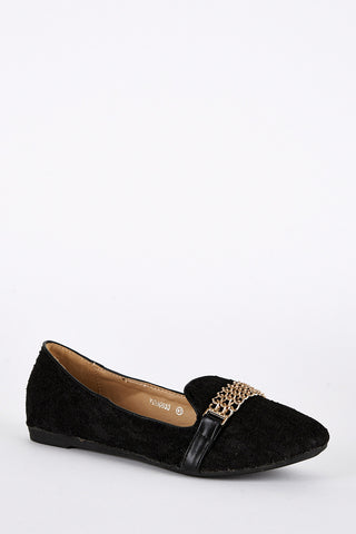 Large Size Lace Detail Pump Shoe in Black-Black-UK 9 - EU 42