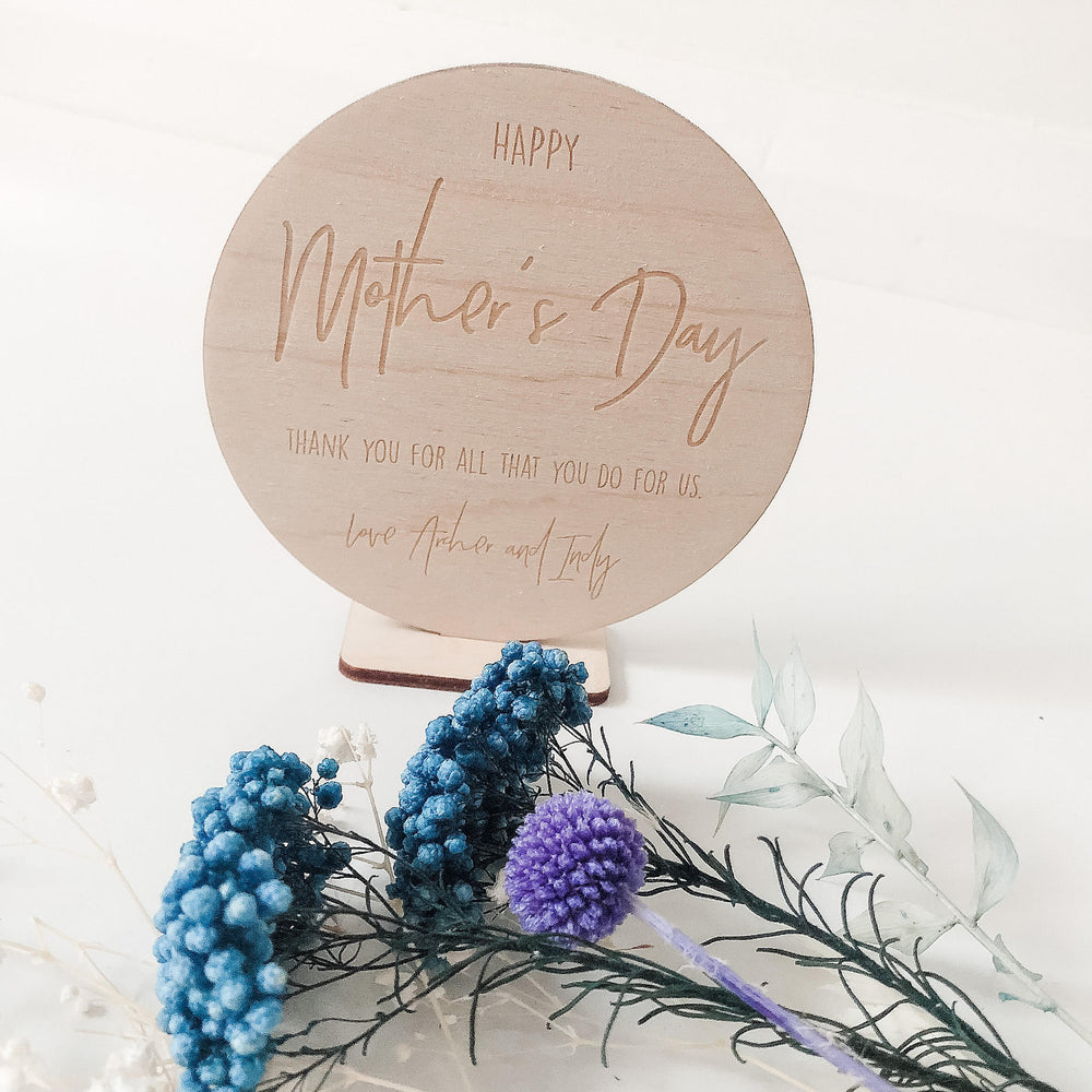 Mother's Day circle desk sign