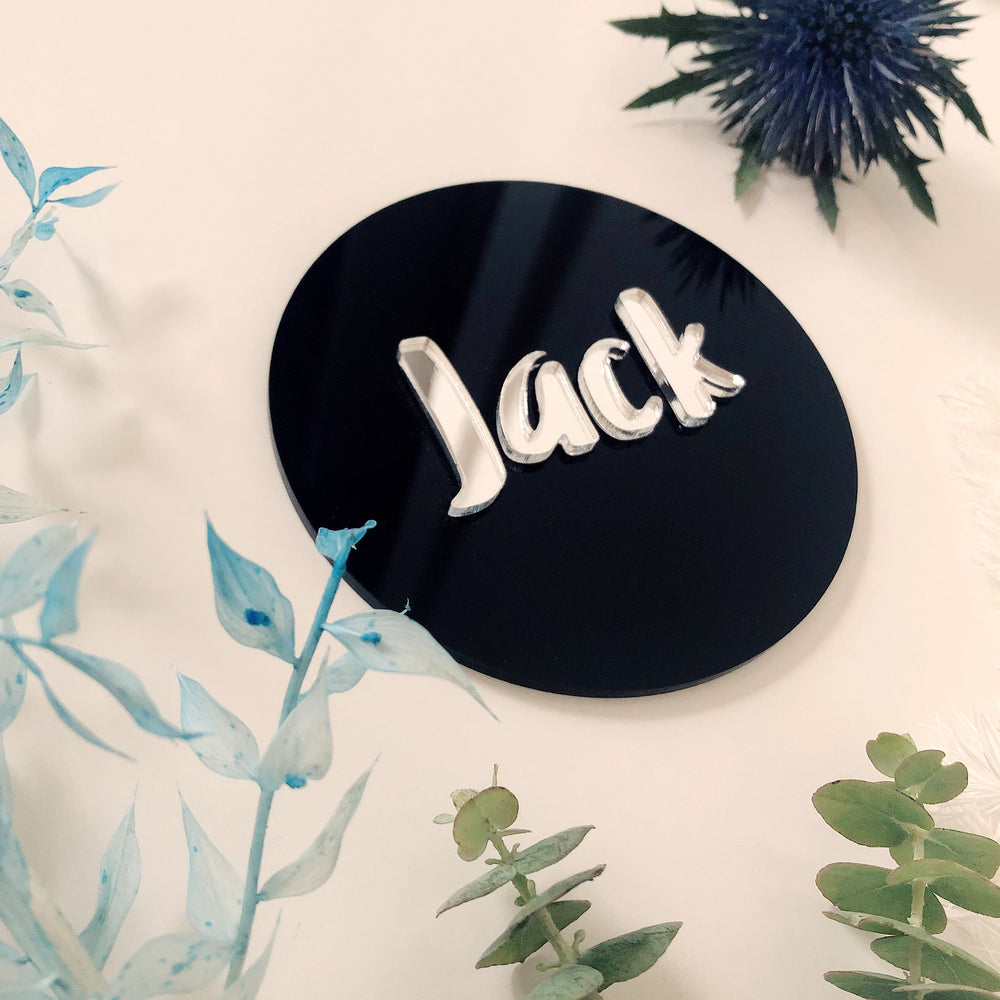 3D personalised name plaque
