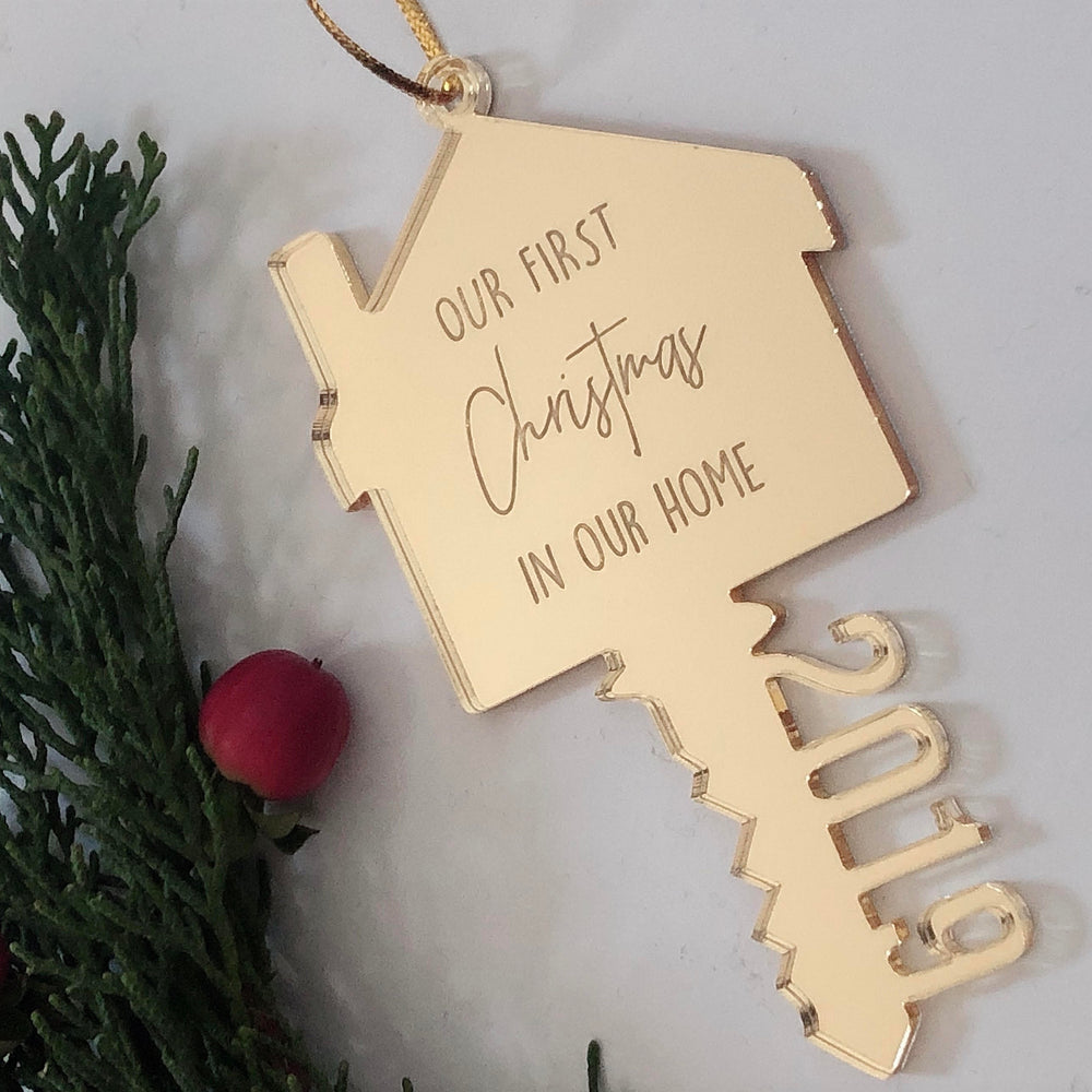 First house Christmas decoration