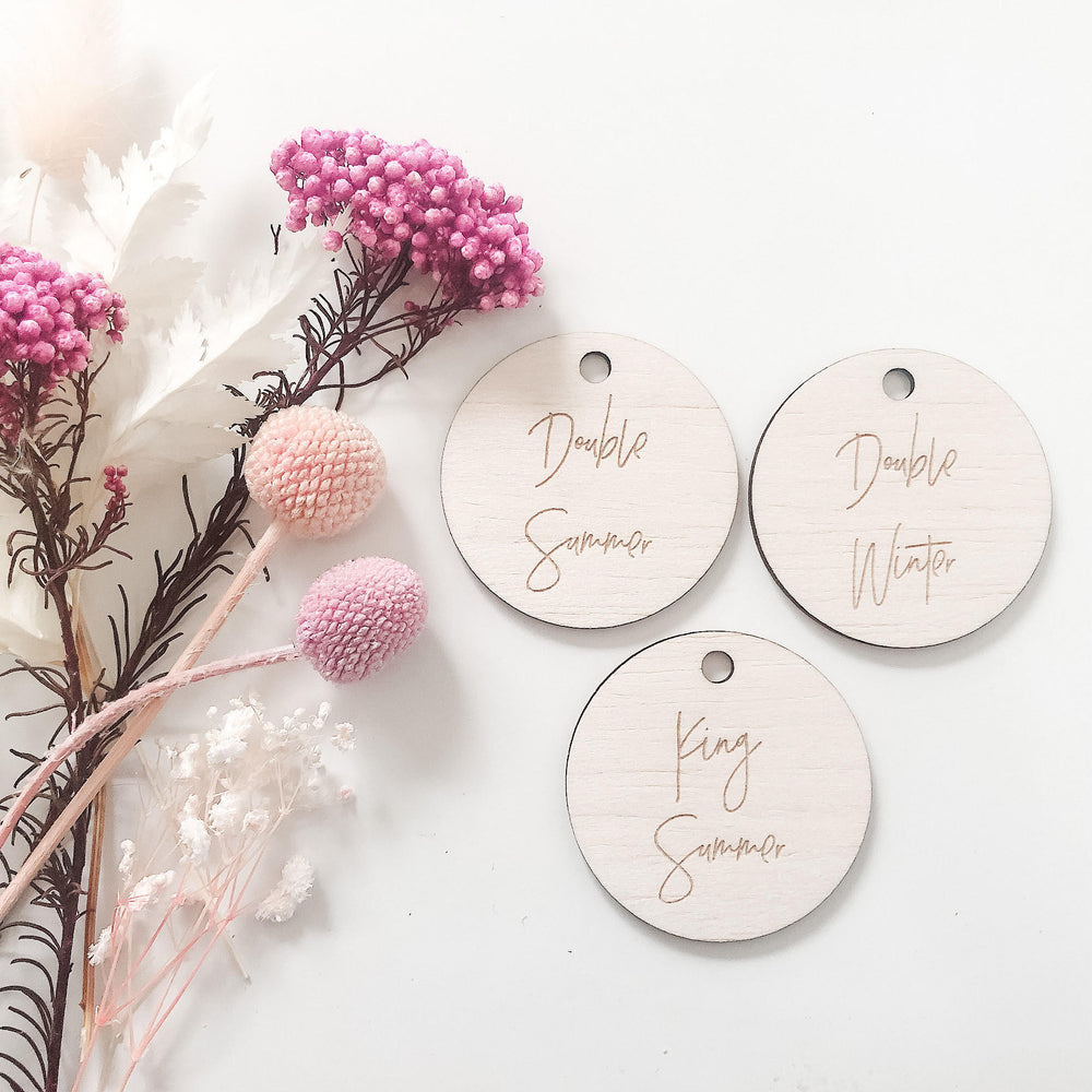 2cm customised circular wooden tags