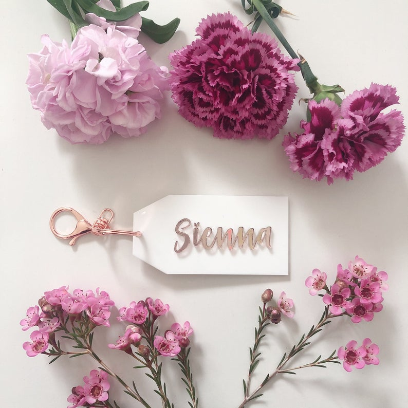 Personalised 3D acrylic tag - design one