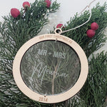 Deluxe wooden and acrylic Christmas bauble