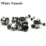 36piece 316l Stainless Steel Ear Expander Piercing Taper & Plugs Tunnel Kit Stretcher Gauges Body Jewelry 14g- to -00g