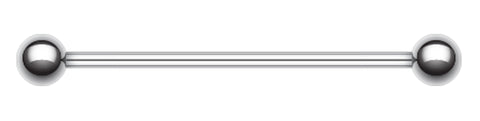 "316L Surgical Steel Industrial Barbell - 16 GA (1.2mm) - Ball Size: 3/16"" (5mm) - Sold Individually"