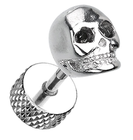 Death Skull 316L Surgical Steel Fake Plug