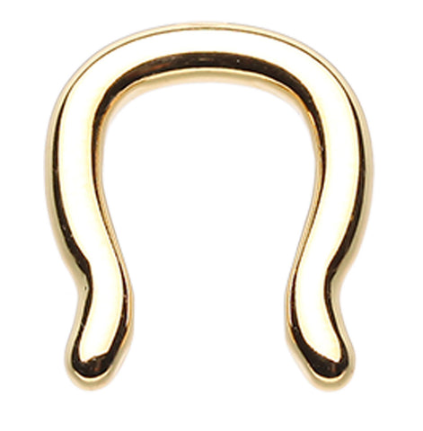 Gold Colored PVD 316L Surgical Steel Septum Ring - 10 GA (2.4mm)  - Sold as a Pair
