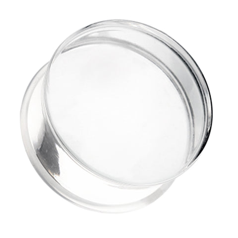 Acrylic Single Flared Ear Gauge Plug - 00 GA (10mm) - Clear - Sold as a Pair