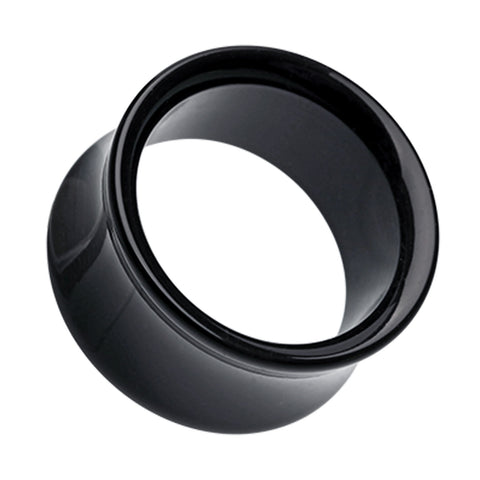 "Acrylic Double Flared Ear Gauge Tunnel Plug - 1"" (25mm) - Black - Sold as a Pair"
