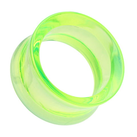 Acrylic Double Flared Ear Gauge Tunnel Plug - 00 GA (10mm) - Green - Sold as a Pair