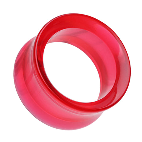 "Acrylic Double Flared Ear Gauge Tunnel Plug - 5/8"" (16mm) - Red - Sold as a Pair"