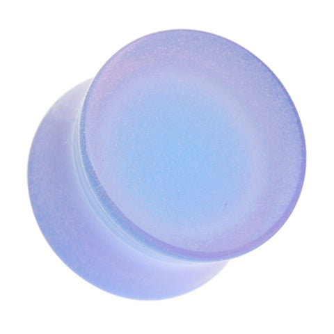 "Glow in the Dark Acrylic Double Flared Ear Gauge Plug - 9/16"" (14mm) - Blue - Sold as a Pair"
