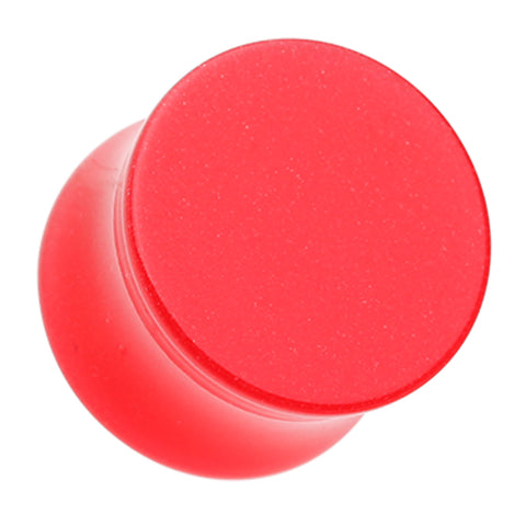"Glow in the Dark Acrylic Double Flared Ear Gauge Plug - 15/32"" (12mm) - Red - Sold as a Pair"