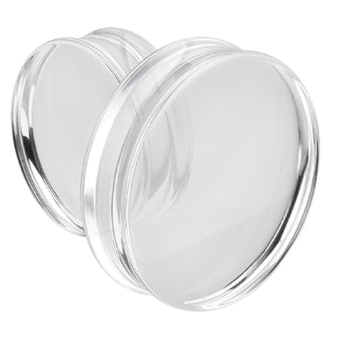 "Supersize Acrylic Double Flared Ear Gauge Plug - 1-7/8"" (48mm) - Clear - Sold as a Pair"