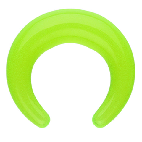 Glow in the Dark Acrylic Ear Gauge Buffalo Taper - 0 GA (8mm) - Green - Sold as a Pair