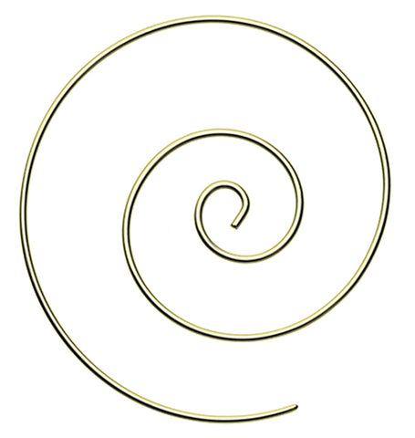 Large Golden Colored Spiral Coiled Earring - 14 GA (1.6mm)  - Sold as a Pair