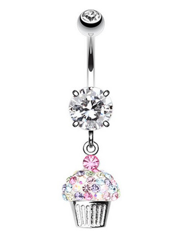 Cupcake  Dangle Belly Button Ring