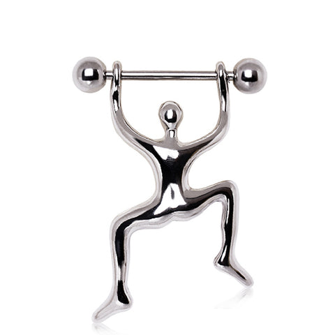 316L Surgical Steel Climbing Man Nipple Ring